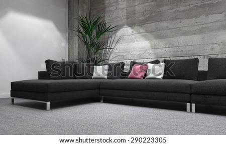 Sectional Sofa Stock Images, Royalty-Free Images & Vectors