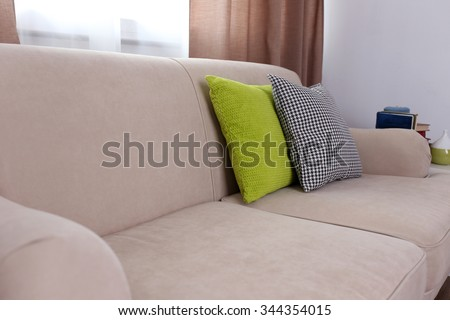 Sofa Pillows Stock Royalty Free & Vectors