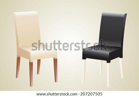 Comfortable trendy chairs. - stock photo