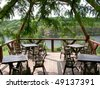Comfortable veranda on open air - stock photo