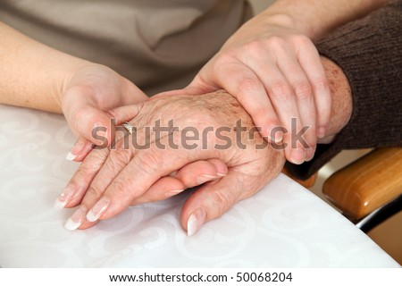 Comforted a young woman widowed by death. Grief counseling. - stock photo