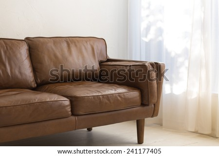 Comfy Brown Sofa - stock photo