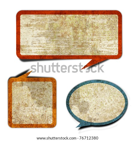 comic blank grunge retro vintage rusty old paper background - stock photo