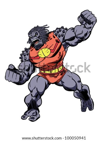 Comic Book Character Grock the Alien Brute - stock photo