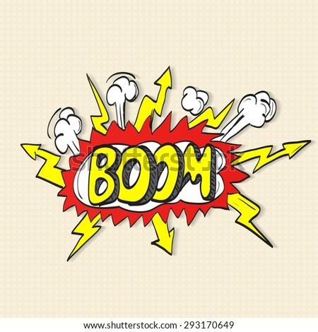 Comic book explosion - stock photo