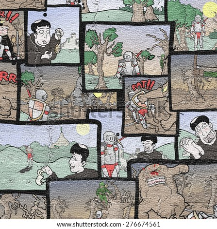 Comic vignettes mosaic - stock photo