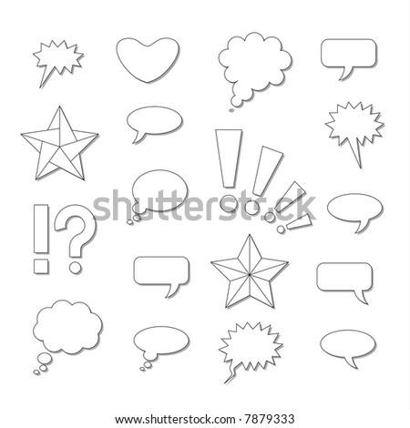Comics symbols. JPEG version. - stock photo
