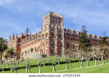 Comillas University, future international center of spanish language studies - stock photo