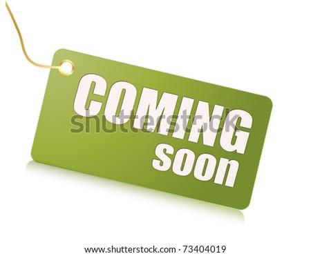 Coming soon - stock photo
