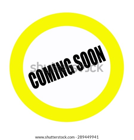 COMING SOON black stamp text on white - stock photo