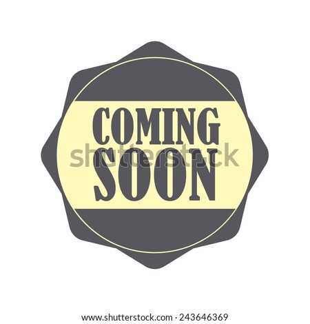 Coming soon gray label, Product Badge - icon isolated on white background. - stock photo