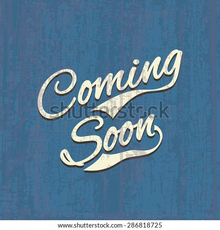 Coming soon, sale poster, image illustration - stock photo