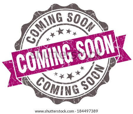 Coming soon violet grunge retro style isolated seal - stock photo