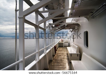 Coming Storm on a Ferry - stock photo