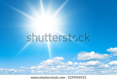 Coming Storm Shining Sunlight  - stock photo