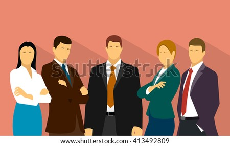 command work is a group of business people - stock photo