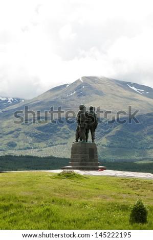 Commando Memorial, Highlands - Scotland - stock photo