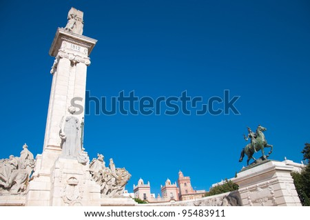Commemoration of the first Spanish constitution, promulgated in Cadiz. March 19, 1812 - stock photo