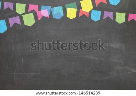 Commemorative Blackboard - stock photo