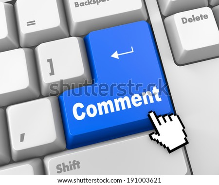 comment enter key - stock photo