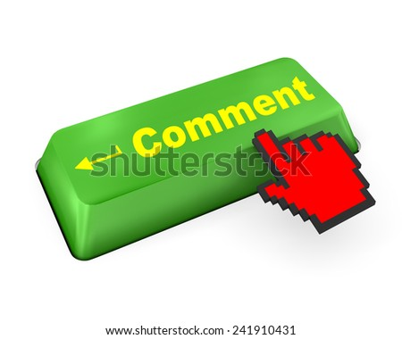 comment enter key  like,social media - stock photo