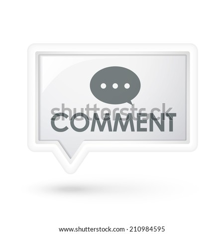 comment word on a speech bubble over white - stock photo