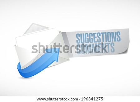 comments and suggestions email sign illustration design over a white background - stock photo