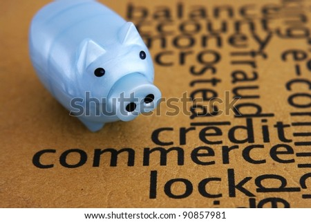 Commerce and piggy bank
