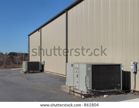 Commercial AC Units - stock photo