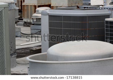 Commercial Air Conditioners - stock photo