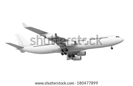 Commercial Airplane - stock photo