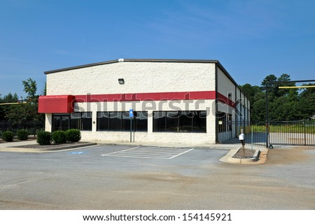 Commercial Building available for sale or lease - stock photo