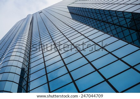 Commercial building closeup - stock photo