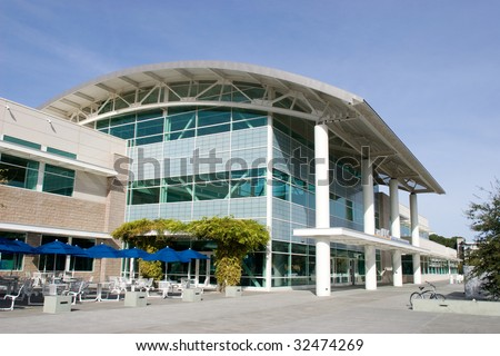 Commercial building in the middle of the day - stock photo