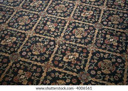 Commercial Carpet Distinctive Floral Pattern Stock Photo