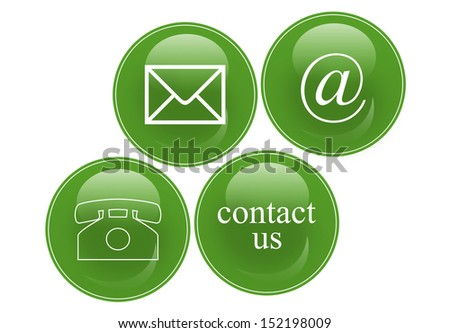 commercial contact signs - stock photo
