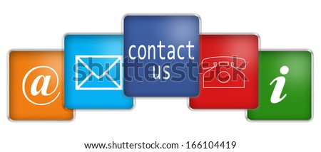 commercial contact signs for business - stock photo