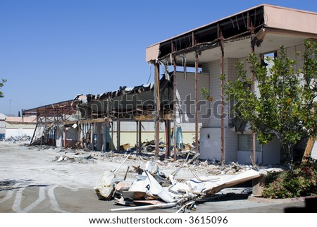 Commercial Demolition - stock photo