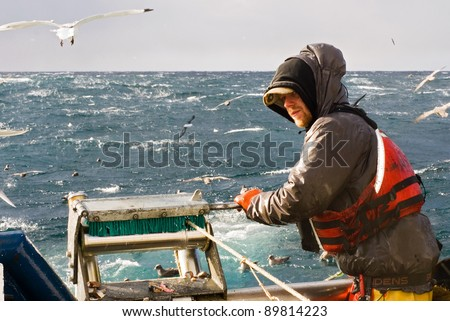 Commercial Fishing - stock photo