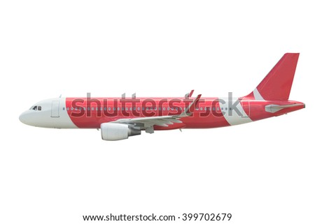 commercial plane isolated on white background