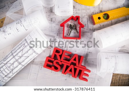 Commercial Real Estate and Architectural project - stock photo
