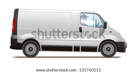 Commercial vehicle. Illustration for best prints and other uses