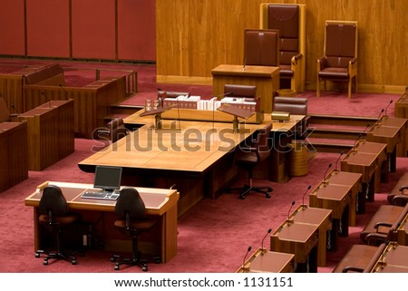 Committee meeting hall (may contain noise) - stock photo