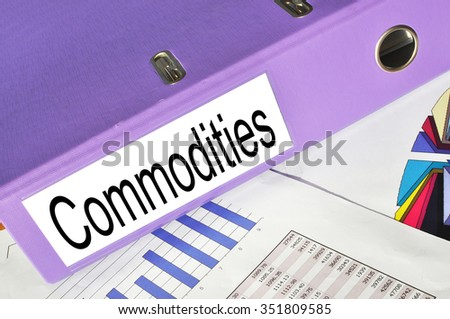 Commodities folder on a market report