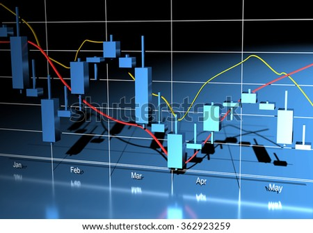 Commodity, Forex Trading Chart - stock photo
