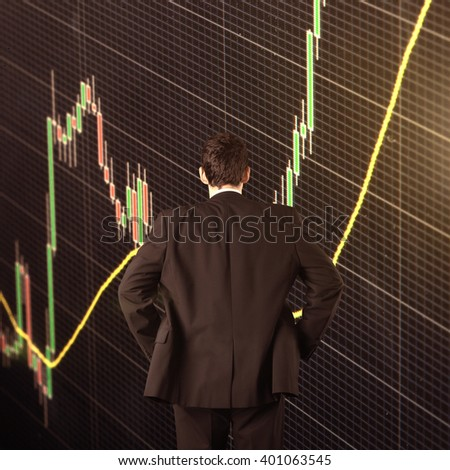 Commodity forex trading technical analysis concept - stock photo