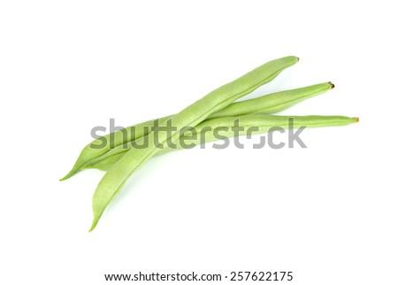 common bean isolated on white background - stock photo