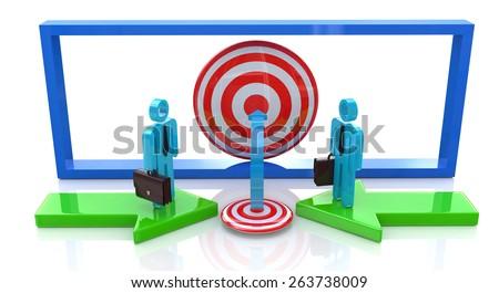 Common business goal  - stock photo