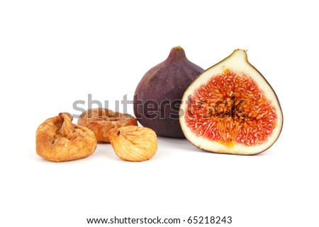 common fig (Ficus carica) fruit isolated on white background