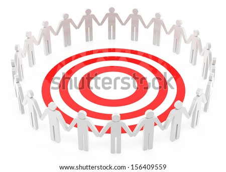 Common target on the white background - stock photo
